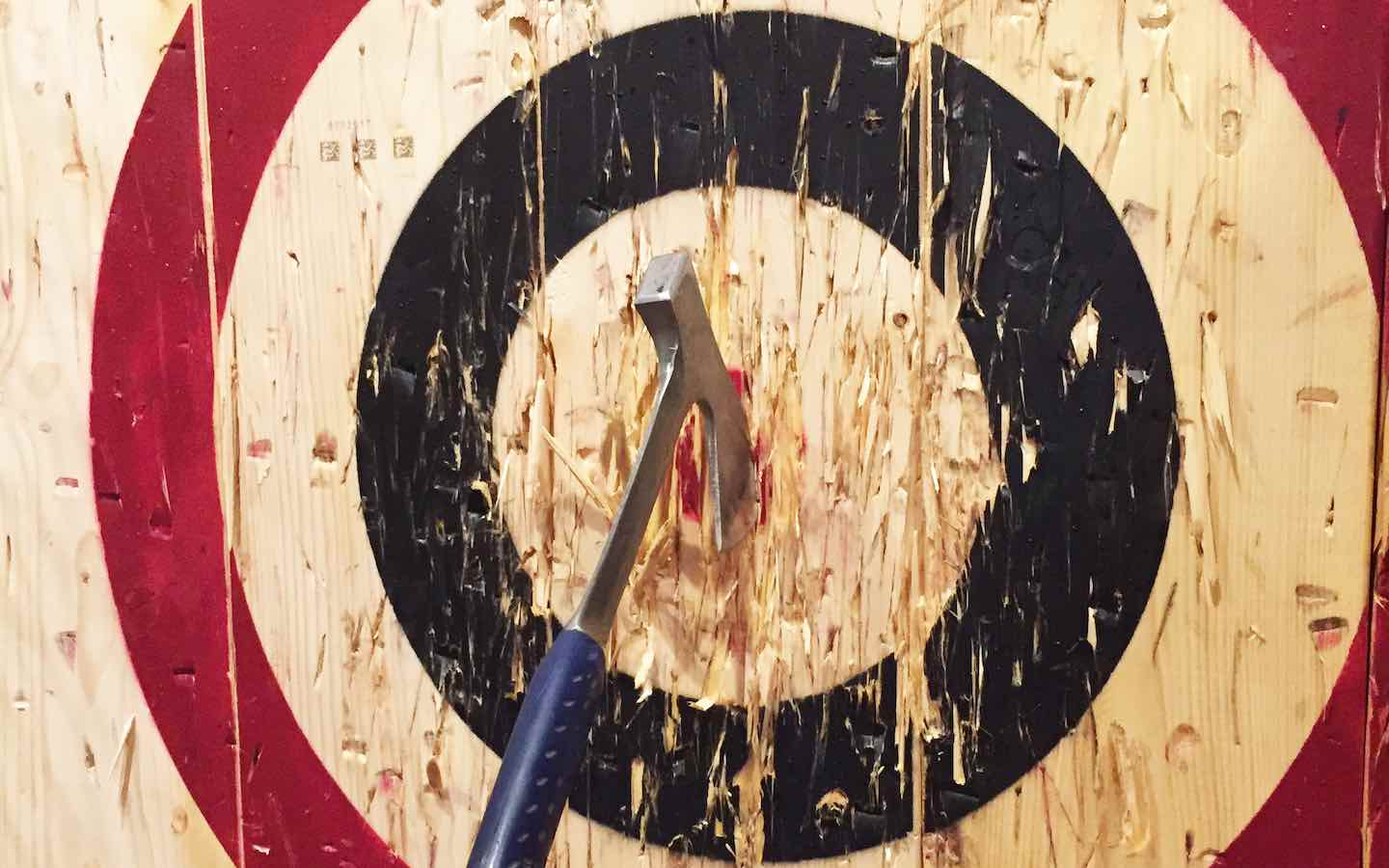 AlleyTrak and Axe Throwing Target Rentals